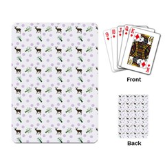 White Deer Pattern Playing Cards Single Design