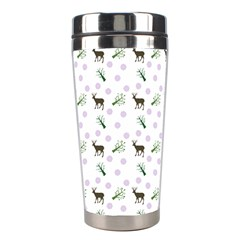 White Deer Pattern Stainless Steel Travel Tumblers by snowwhitegirl