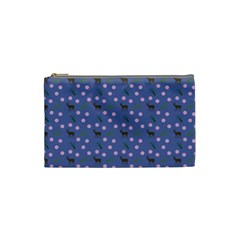 Blue Deer Pattern Cosmetic Bag (small)