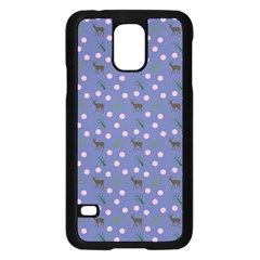 Blue Deer Pattern Samsung Galaxy S5 Case (black) by snowwhitegirl