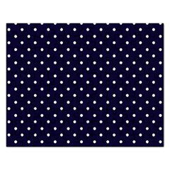 Little  Dots Navy Blue Rectangular Jigsaw Puzzl by snowwhitegirl