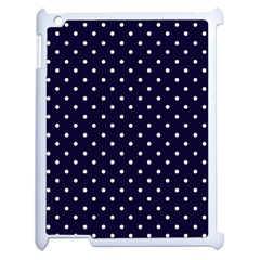 Little  Dots Navy Blue Apple Ipad 2 Case (white) by snowwhitegirl