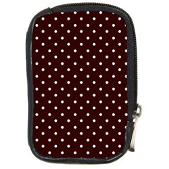 Little  Dots Maroon Compact Camera Leather Case by snowwhitegirl