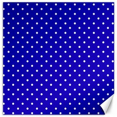 Little  Dots Royal Blue Canvas 16  X 16  by snowwhitegirl