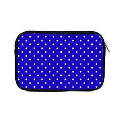 Little  Dots Royal Blue Apple Ipad Mini Zipper Cases by snowwhitegirl