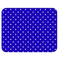 Little  Dots Royal Blue Double Sided Flano Blanket (medium)  by snowwhitegirl