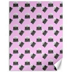 Retro Typewriter Pink Pattern Canvas 12  X 16  by snowwhitegirl