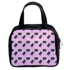 Retro Typewriter Pink Pattern Classic Handbag (two Sides)