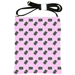 Retro Typewriter Pink Pattern Shoulder Sling Bag