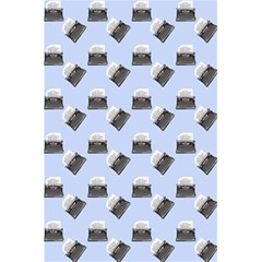 Retro Typewriter Blue Pattern 5 5  X 8 5  Notebook by snowwhitegirl
