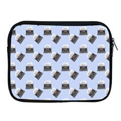 Retro Typewriter Blue Pattern Apple Ipad 2/3/4 Zipper Cases