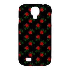 Red Roses Black Samsung Galaxy S4 Classic Hardshell Case (pc+silicone) by snowwhitegirl