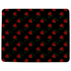 Red Roses Black Jigsaw Puzzle Photo Stand (rectangular) by snowwhitegirl