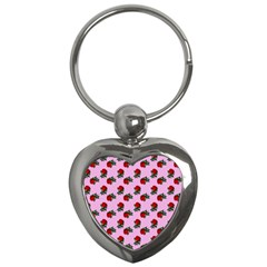 Red Roses Pink Key Chains (heart)