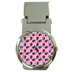Red Roses Pink Money Clip Watches by snowwhitegirl