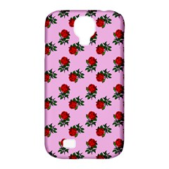 Red Roses Pink Samsung Galaxy S4 Classic Hardshell Case (pc+silicone) by snowwhitegirl