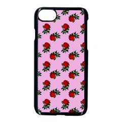 Red Roses Pink Apple Iphone 7 Seamless Case (black) by snowwhitegirl