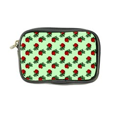Red Roses Green Coin Purse by snowwhitegirl