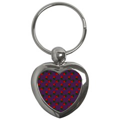 Red Roses Purple Key Chains (heart)  by snowwhitegirl