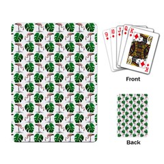 Flamingo Leaf Patttern Playing Cards Single Design