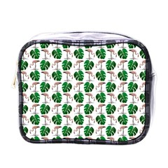 Flamingo Leaf Patttern Mini Toiletries Bag (one Side) by snowwhitegirl