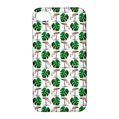 Flamingo Leaf Patttern Apple Iphone 4/4s Hardshell Case With Stand by snowwhitegirl
