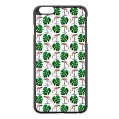 Flamingo Leaf Patttern Apple Iphone 6 Plus/6s Plus Black Enamel Case by snowwhitegirl