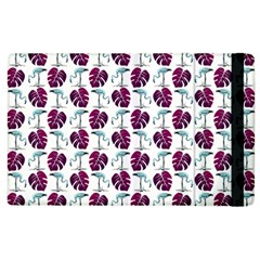 Flamingo Leaf Patttern Blue Apple Ipad 2 Flip Case by snowwhitegirl
