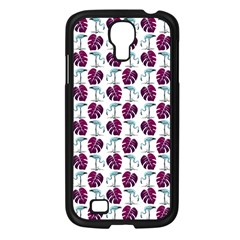 Flamingo Leaf Patttern Blue Samsung Galaxy S4 I9500/ I9505 Case (black) by snowwhitegirl