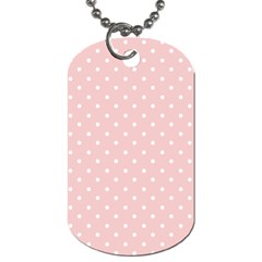 Little  Dots Pink Dog Tag (one Side)