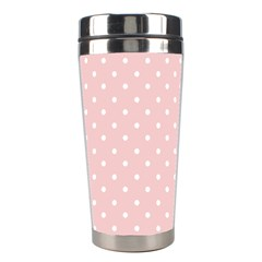 Little  Dots Pink Stainless Steel Travel Tumblers by snowwhitegirl