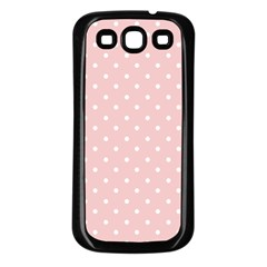 Little  Dots Pink Samsung Galaxy S3 Back Case (black)