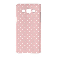 Little  Dots Pink Samsung Galaxy A5 Hardshell Case  by snowwhitegirl