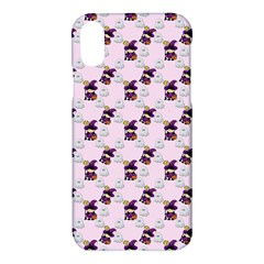 Little Witch Ghosts Pink Pattern Apple Iphone X Hardshell Case