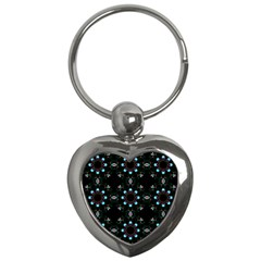 Embroidery Paisley Black Key Chains (heart)