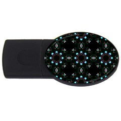 Embroidery Paisley Black Usb Flash Drive Oval (4 Gb) by snowwhitegirl