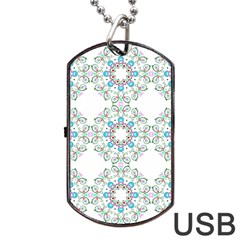 Embroidery Paisley Dog Tag Usb Flash (two Sides) by snowwhitegirl
