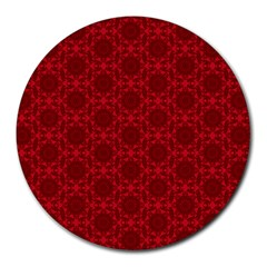 Victorian Paisley Red Round Mousepads