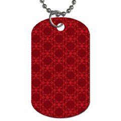 Victorian Paisley Red Dog Tag (two Sides) by snowwhitegirl