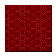 Victorian Paisley Red Face Towel by snowwhitegirl