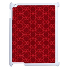 Victorian Paisley Red Apple Ipad 2 Case (white) by snowwhitegirl