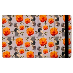Girl With Roses And Anchors Apple Ipad Pro 12 9   Flip Case by snowwhitegirl