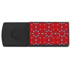 Embroidery Paisley Red Rectangular Usb Flash Drive by snowwhitegirl