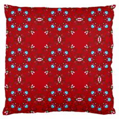 Embroidery Paisley Red Large Cushion Case (one Side)