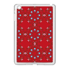 Embroidery Paisley Red Apple Ipad Mini Case (white) by snowwhitegirl