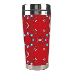 Embroidery Paisley Red Stainless Steel Travel Tumblers by snowwhitegirl