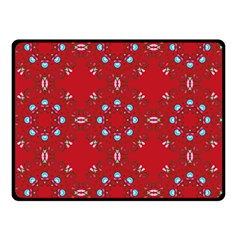 Embroidery Paisley Red Double Sided Fleece Blanket (small)  by snowwhitegirl