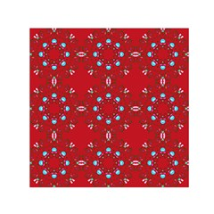 Embroidery Paisley Red Small Satin Scarf (square) by snowwhitegirl