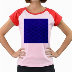 Victorian Paisley Royal Blue Pattern Women s Cap Sleeve T-shirt by snowwhitegirl