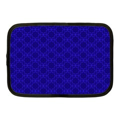 Victorian Paisley Royal Blue Pattern Netbook Case (medium) by snowwhitegirl